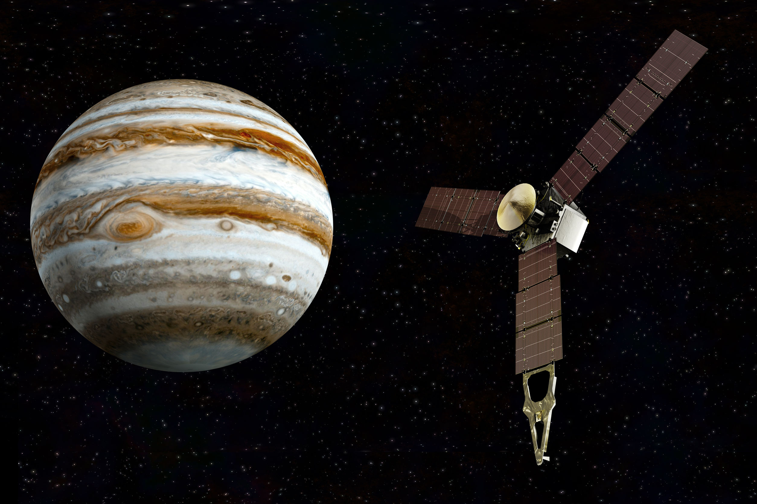 34769886 - jupiter and satellite juno