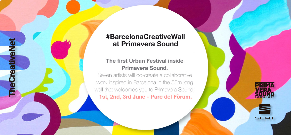 BarcelonaCreativewall at Primavera Sound sponsored by SEAT